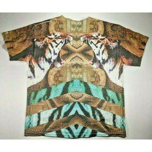 Men's Popular Poison Tiger Graphic T-shirt, Large